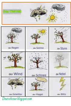 Wetter may refer to: German Grammar, German Words, French Grammar, Study German, Learn German, Germany For Kids, German Resources, Germany Language, Early Education