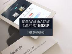 iPad & Magazine Mockup - blugraphic