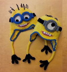 Ravelry: Minion Earflap Hat/Beanie with Changeable Goggles pattern by Cathy Ren