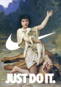 Nike Swoosh Art- Keren Hurst- - Wallpaper World Classical Art Memes, Images Vintage, Design Blog, Art Graphique, Old Master, Grafik Design, Aesthetic Wallpapers, Collage Art, Art History