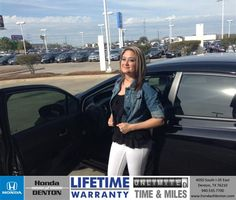 Congratulations to Tijuana  Federico on your #Honda #Civic purchase from Ronnie Williams at Honda of Denton! #NewCar