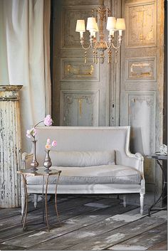 Silver, gold and pewter look super in a French inspired interior.