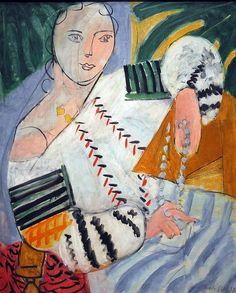 Henri Matisse: Romanian Blouse, 1937 Linear and form Henri Matisse, Matisse Kunst, Matisse Art, Art And Illustration, Illustrations, Figure Painting, Painting & Drawing, Painting Lessons, Matisse Paintings