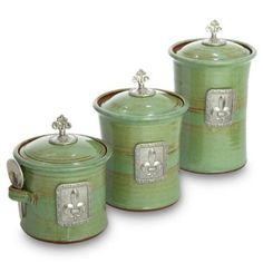 Green Kitchen Canisters Sets Simple 25 Green Kitchen Canister Set Design  Decoration