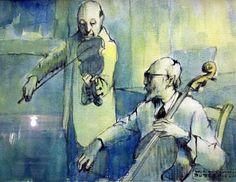 TICMUSart: Two Musicians - W. Cortland Butterfield (I.M.)