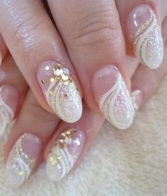 Milky Way. summernails bridalnail