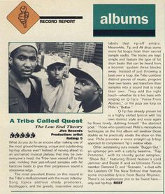 """A Tribe Called Quest's """"The Low End Theory"""" gets 5 mics from The Source Low End Theory, Rap City, Source Magazine, A Tribe Called Quest, Drums Beats, Still Love Her, Best Albums, Music Lovers, Album Covers"""