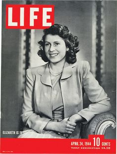 Happy Birthday, Queen Elizabeth.  As the Queen celebrated her 18th birthday, the young beauty graced the April 24, 1944 cover of LIFE Magazine.  See LIFE's book on the Royal Family here.