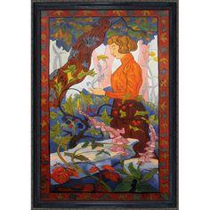 Paul-Elie Ranson 'Foxgloves ' Hand Painted Framed Art