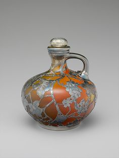Jug, Rookwood Pottery and Gorham, 1892, earthenware & silver