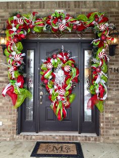 One of my customers sent me a picture of one of the longest Christmas garlands Iu0027ve ever done!!! Awesome! Garland and wreath by Norma Gordon . & Wonderful DIY decor mesh door garland you can use this ideas to ...