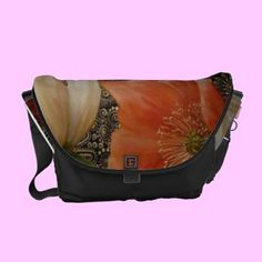 'Threesome Poppies' Messenger Bags -- $85.95
