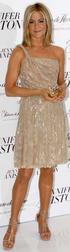 Jennifer Aniston in a sheer glittering Valentino