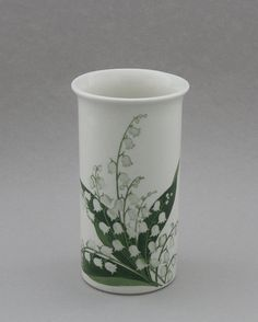 Arabia flower vase, Lily of the Valley. Design, Esteri Tomula | Shopping Place for Friends of Old Antique Dishware - Dishwareheaven.com