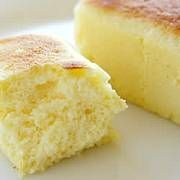 Japanese Cotton Cheesecake by Diana. Fresh from the oven it's soft and fluffy, like cotton candy (hence the name). After cooling in the fridge tastes like normal butter cheesecake, moist and dense. Still very delicious.