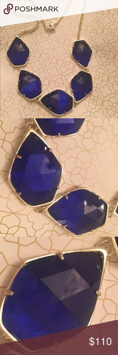 Kendra Scott Gold/Cobalt Color bar Connelly Stunning cobalt/gold custom made Connely necklace. I recently bought this but the blue was not what I was looking for Kendra Scott Jewelry Necklaces