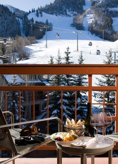 I wish I were sitting here! The Little Nell  Aspen, Colorado