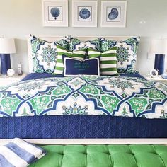 This master bedroom by @agk_designstudio just screams Spring to us!  The vibrant colors of our Ashton Duvet set the color palette for the space.  Lucky clients indeed! #springfling #masterbedroom #mypotterybarn