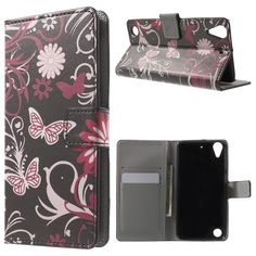 Housse HTC Desire 530 - Papillons et Fleurs