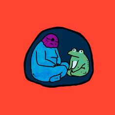 Staying in your #cave when you feel tired which is okay. #digitalart #drawing #illustration #frog #safe #security #comfort #wacom