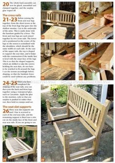 #2819 Garden Seat Plans - Outdoor Furniture Plans