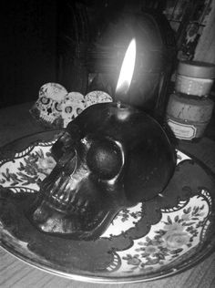 Skull candle beautiful and deadly