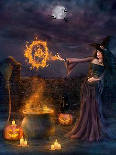 Risultati immagini per halloween samhain Halloween Fotos, Halloween Pictures, Halloween Spells, Creepy Halloween, Halloween Night, Happy Halloween, Beautiful Witch, Pagan Art, Season Of The Witch