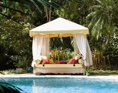 Making Outdoor Canopy Bed - http://www.jhresidential.com/making-outdoor-canopy-bed/ : #Outdoor An outdoor canopy bed with bamboo can transform a room in a romantic destination. Bamboo conjures up images of tropical conditions. Make an outdoor canopy bed with bamboo that is both simple and elegant with traditional techniques such as simple ligation of the umbilical cord. You can create a...