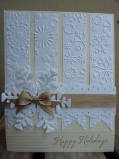 pretty winter snowflake card