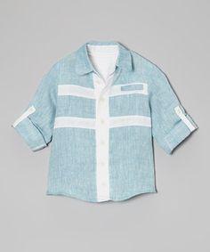 Love this Laguna Linen Button-Up - Infant & Toddler by Noreen Kidwai on #zulily! #zulilyfinds