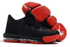 sports shoes e60ce 52f99 Buy Nike LeBron 16 Low Black Red Basketball Shoes