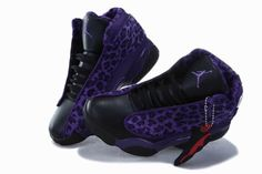 Air Jordan 13 Kids Cheetah Leopard Print Purple Black New Jordans Shoes