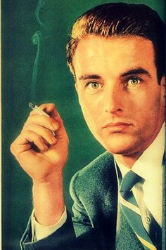"""Montgomery Clift - actor best known for his roles in """"Raintree County"""", """"From Here To Eternity"""". Suffered from depression following car accident in which his face was disfigured. He died on July 25, 1966 at the age of 45 from a heart attack."""