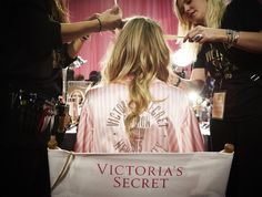 From swarovski - @MarHunt trades in her #VSFashionShow robe embellished with #Swarovski crystals for wings that sparkle tonight on CBS. Join in on the #VSFashionShow fun on Twitter by tagging @Swarovski.