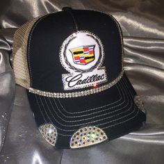 A personal favorite from my Etsy shop https://www.etsy.com/listing/472380721/2-caddy-hats-bling-hats-womens-hats