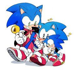 Sonic The Hedgehog, Silver The Hedgehog, Shadow The Hedgehog, Hedgehog Art, Sonic Kawaii, Sonic Generations, Troll, Classic Sonic, Sonic Mania