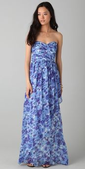 Strapless Printed Maxi Dress by Shopbop on HavetoHave.com