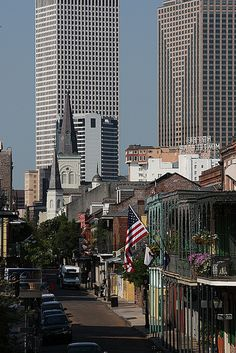 New Orleans ~ Worked at Place St. Charles (tall bldg. on right, 51st fl., elevator nightmares is putting it MILDLY!) @Lori Cline Doherty.