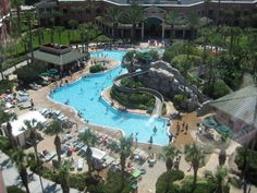Caribe Royale Hotel - Orlando, Florida---great service, large rooms, fabulous waterfall pool!!!  August 2013