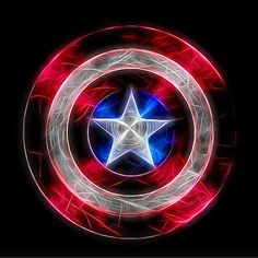 Neon Captain America Shield by Dan Sproul