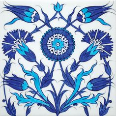 Iznik tile from the New Mosque of the Sultan's Summer Palace, 17th century