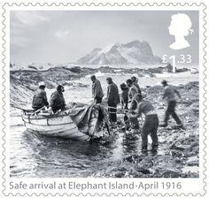 Shackleton and the Endurance Expedition 1st Stamp (2016) Safe arrival at Elephant Island - April 1916