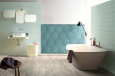 Tagina's large-format Details hexagon tiles shown at the 2015 ICFF