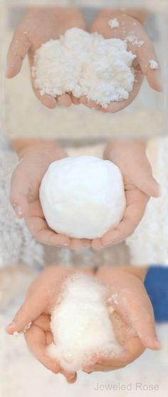 Snow FOAM!  Amazing homemade snow that FOAMS in a unique way that is mesmerizing and SO COOL! { Unlike any other homemade snow! }
