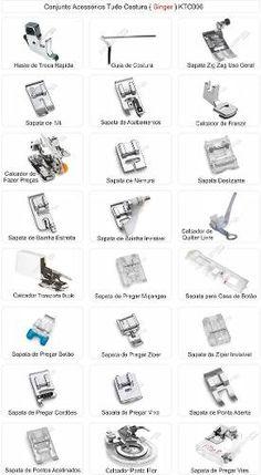 Kit Conjunto Calcadores Sapatas Sapatilhas Singer - 24 Itens