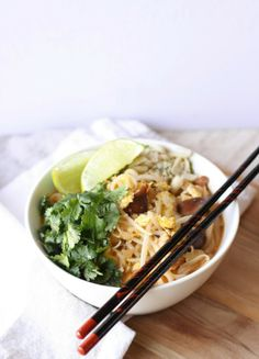 Pad Thai Inspired Soup - This is delicious and perfect for these cold nights!.