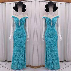 """5695e855d Feira Shop on Instagram: """"Aquele vestido para se sentir maravilhosa numa  festa! Modelo rendado na cor azul turquesa com detalhes em tule, um luxo!"""