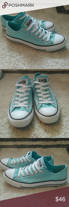 Converse Mint Green EUC So cute!! I love these, just have so many Converse now. Converse Shoes