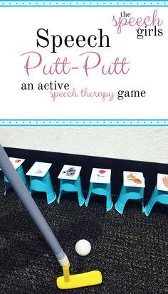 Speech Putt-Putt | an active speech therapy game