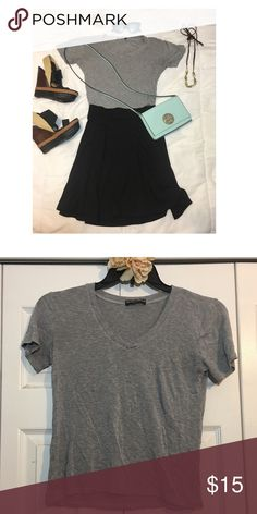 Brandy Melville Classic Gray T-Shirt Gently worn. Good condition. Brandy Melville Tops Tees - Short Sleeve